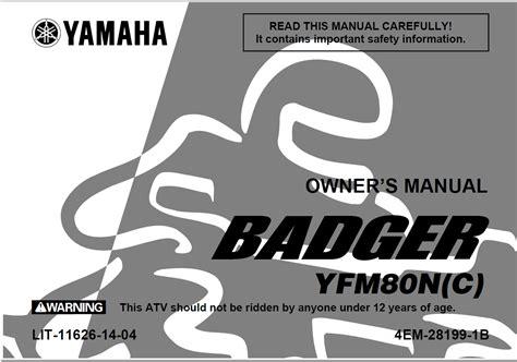 free download ebooks Yamaha Badger Service Manual.pdf