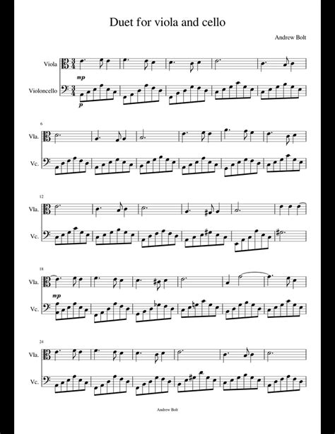 Yesterday For Viola And Cello Duet  music sheet