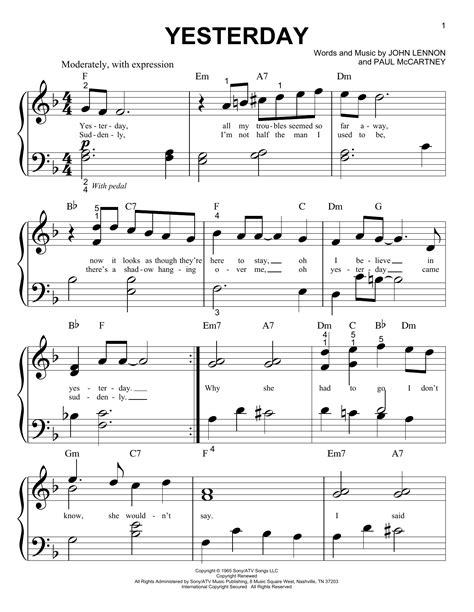 Yesterday Fr Posaunenquintett  music sheet