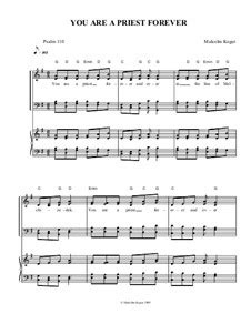 You Are A Priest Forever  music sheet