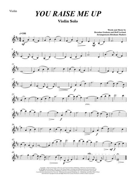 You Raise Me Up Violin Solo Two Tonalities Included  music sheet
