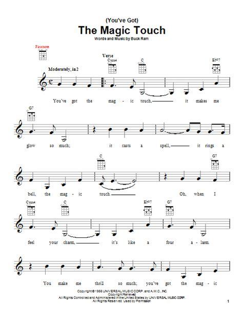 You Ve Got The Magic Touch music sheet