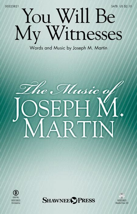 You Will Be My Witnesses Piano  music sheet