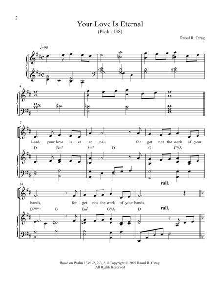 Your Love Is Eternal Psalm 138  music sheet