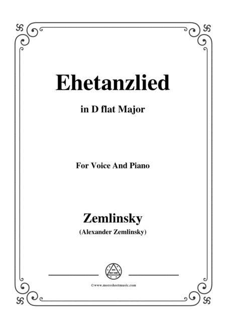 Zemlinsky Ehetanzlied In A Flat Major  music sheet