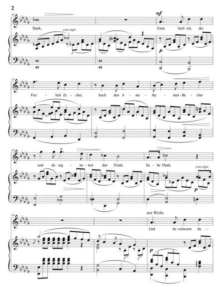 Zueignung Op 10 No 1 In 3 High Keys D D Flat C Major  music sheet