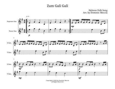Zum Gali Gali Soprano Sax And Tenor Sax Duet  music sheet