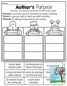 Authors Purpose Worksheets - Genius