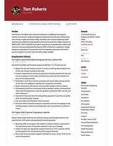 resume objective examples for firefighter  basic recommendation    firefighter resume