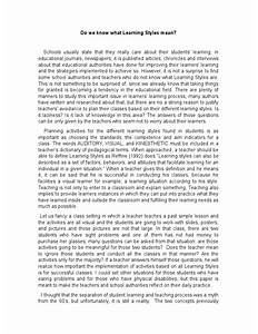free learning styles essays and papers  exploratory essay papers    free teaching styles essays and papers