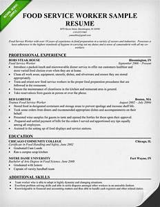 sample food server resume food service worker resume student sample resume for food service worker job