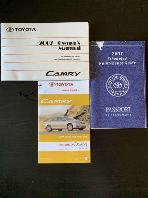 07 Toyota Camry Owners Manual (ePUB/PDF) Free