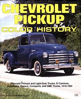 0879388765 Chevrolet Pickup Color History