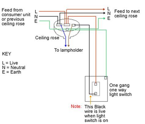 1 Way Lighting Circuit Wiring Diagram
