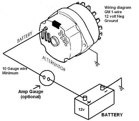 1 wire alternator diagram chevy