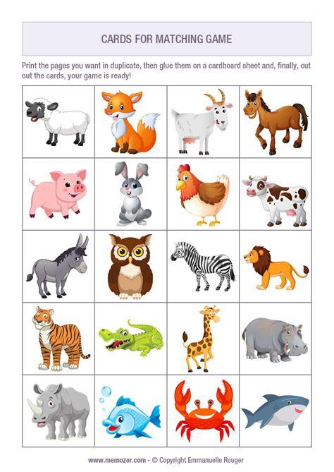 15 Free Printable Memory Matching Games for Kids