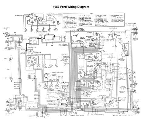 1953 ford car wiring diagram free picture