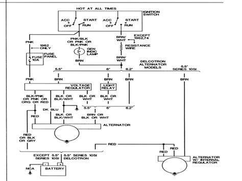 1966 nova alternator wiring diagram