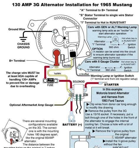 1970 ford mustang alternator wiring diagram