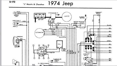 1974 jeep cj5 wiring diagram temp gauge