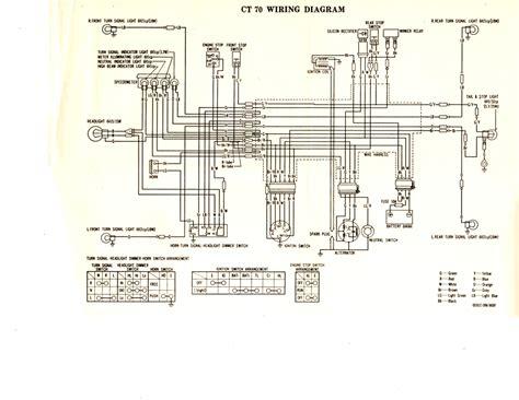 1977 honda ct70 wiring schematic