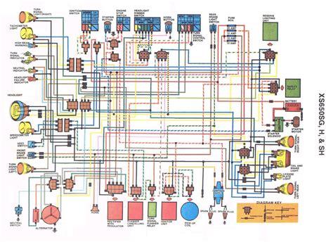 1980 yamaha xs650 wiring diagram