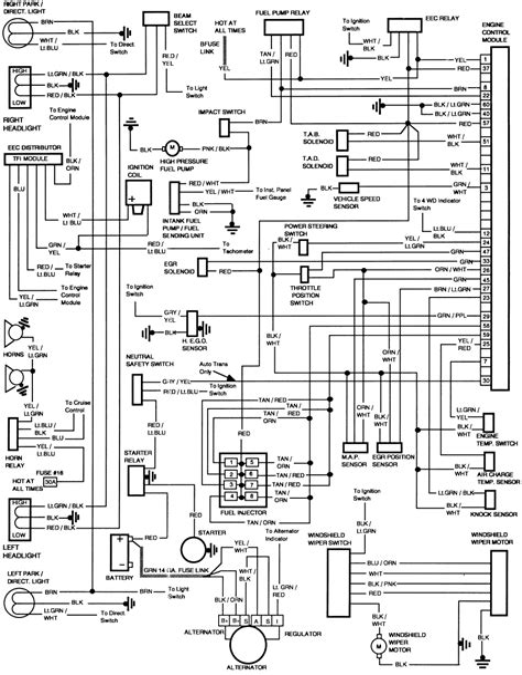 1986 f150 wiring harness diagram