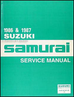 1986 Suzuki Samurai Service Manual (ePUB/PDF) Free