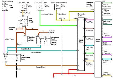 1988 ford mustang radio wiring diagram