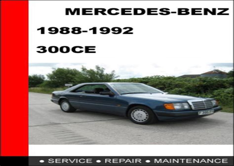 1988 Mercedes 300ce Service Repair Manual 88 (Free ePUB/PDF)