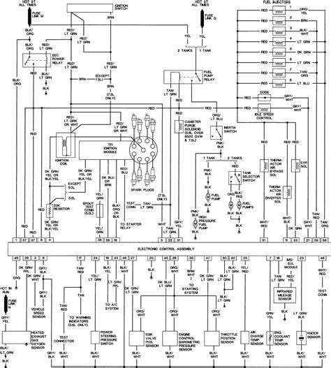 1989 ford f350 wiring diagram color code