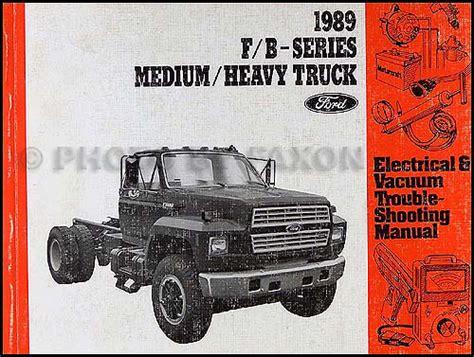 1989 Ford Truck Cab Foldout Wiring Diagram F600 F700 F800 ... F Ford Truck Wiring Schematics on