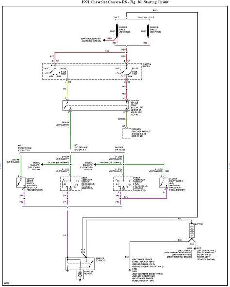 1991 camaro ignition wiring diagram