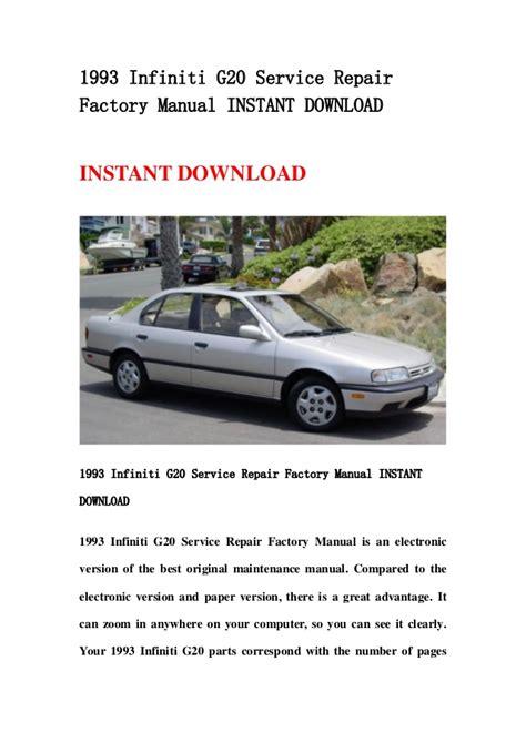 1993 Infiniti G20 Service Repair Manual (ePUB/PDF)