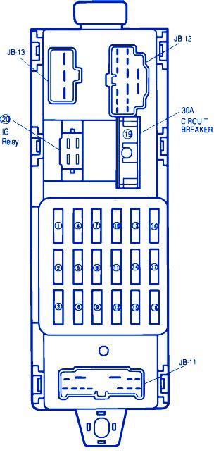 1993 mazda 323 fuse box diagram