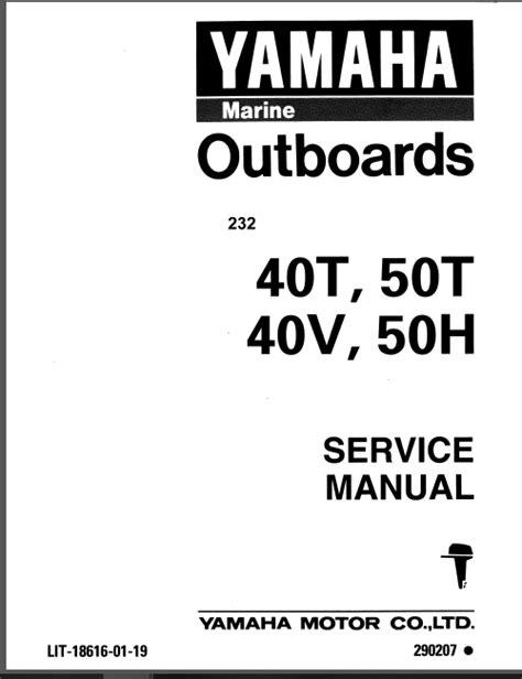 1995 Yamaha 40 Elrt Outboard Service Repair Maintenance Manual ...