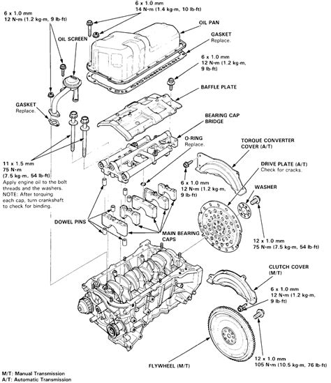 1997 honda engine diagram