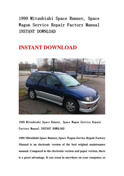 1999 Mitsubishi Space Runner Space Wagon Service Repair Manual ...