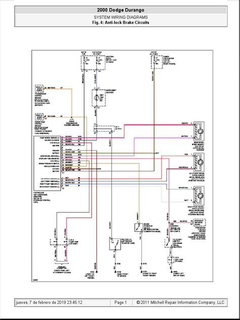 2000 Dodge Durango Transmission Wiring Diagram