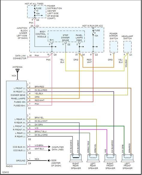 2000 dodge grand caravan wiring diagram