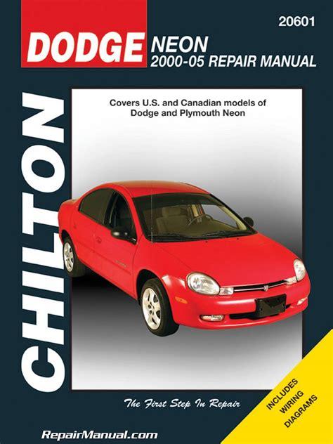 2000 dodge neon service repair workshop manual