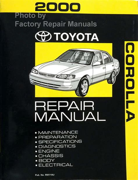 2000 Toyota Corolla Service Manual (ePUB/PDF)