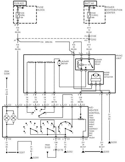 2000 Wrangler Heater Relay Wiring Diagram on