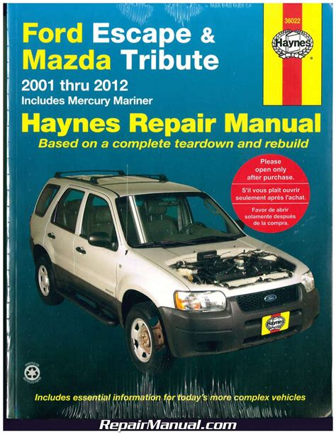 2001 Ford Escape Service Manual (ePUB/PDF) Free