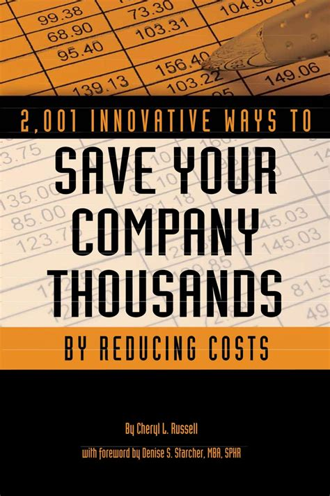 2001 Innovative Ways To Save Your Company Thousands By Reducing Costs A Complete Guide To Creative Cost Cutting And Boosting Profits