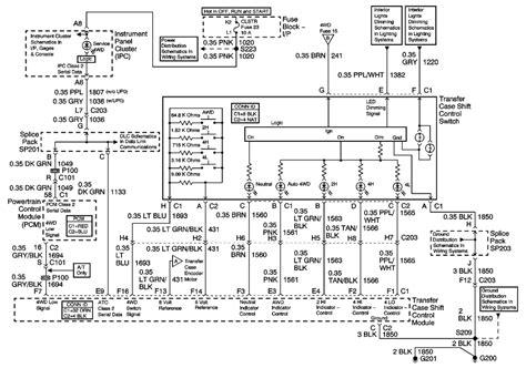 2002 chevy trailblazer 4x4 wiring diagram