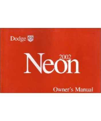 2002 Dodge Neon Manual (ePUB/PDF)