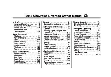 2003 Silverado Owners Manual Pdf (ePUB/PDF)