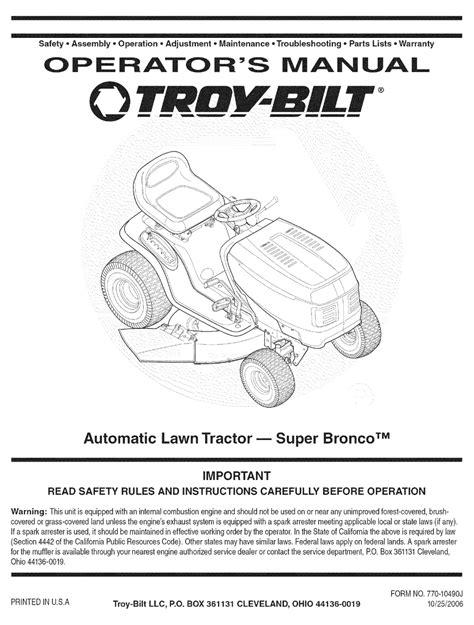 2003 Troy Bilt Bronco Manual (ePUB/PDF)