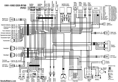 gsxr 600 wiring diagram starter suzuki gsxr k uk spec colour wiring